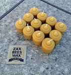 100% Pure Beeswax Mini-Votive Candles - 12 Pack