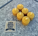 100% Pure Beeswax Mini-Votive Candles | 6 Pack