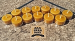100% Pure & Natural Beeswax Tea Light Candles |12 Pack