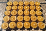100% Pure & Natural Beeswax Tea Lights Candles | 30 Pack