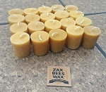 100% Pure Beeswax BULK Votive Candles -  20 Pack