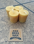 100% Pure Beeswax Votive Candles - 4 Pack