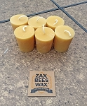 100% Pure Beeswax Votive Candles - 6 Pack