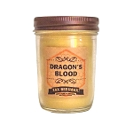 Dragons Blood Beeswax Mason Jar Candle | 8 oz