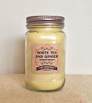 White Tea & Ginger Aromatherapy Mason Jar Candle - 16oz