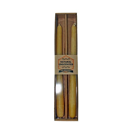 "100% Pure & Natural Beeswax 10"" Taper Candles