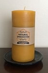 100% Pure & Natural Beeswax Pillar Candle | 3X6