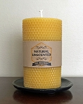 100% Pure Beeswax Honeycomb Pillar Candle | 3X6