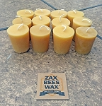 100% Pure Beeswax Votive Candles - 12 Pack