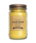 Lavender Aromatherapy Beeswax Mason Jar Candle | 16 oz