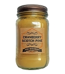 Cranberry Scotch Pine Beeswax Mason Jar Candle | 16 oz