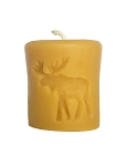 Rustic Moose 2X3 Beeswax Pillar Candle