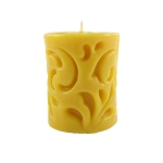 100% Pure & Natural Beeswax Cast Pillar Candle