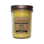 Gingerbread Man Scented Beeswax Mason Jar Candle | 8 Oz