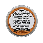 Patchouli & Cedarwood  Aromatherapy Beeswax Travel Tin Candle | 4 Oz