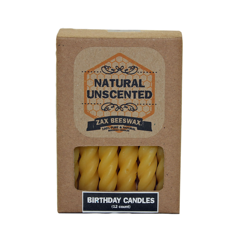 100 Pure Natural Beeswax Birthday Cake Candles