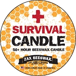 100% Beeswax Metal Tin Survival Candle (4 Oz)