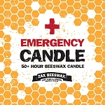 100% Pure Beeswax Emergency Candle | 6X2