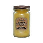 Toasted Marshmallow Scented Beeswax Mason Jar Candle | 16 oz