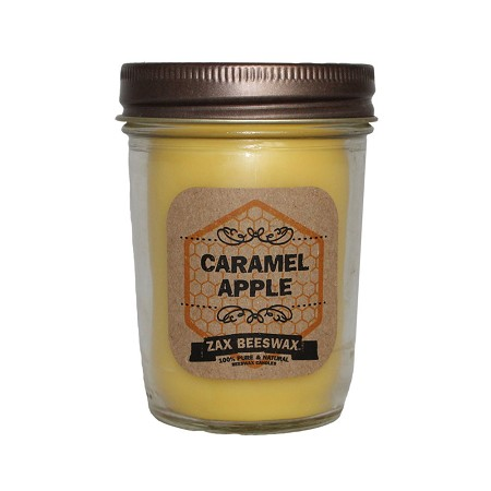 Caramel Apple Scented Beeswax Mason Jar Candle | 8 oz