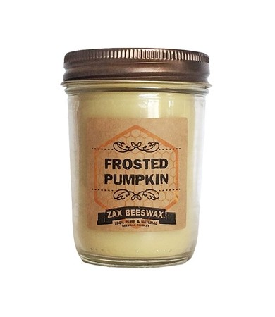 8 oz Frosted Pumpkin Beeswax Candle