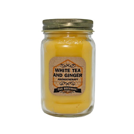 White Tea & Ginger Aromatherapy Beeswax Mason Jar Candle