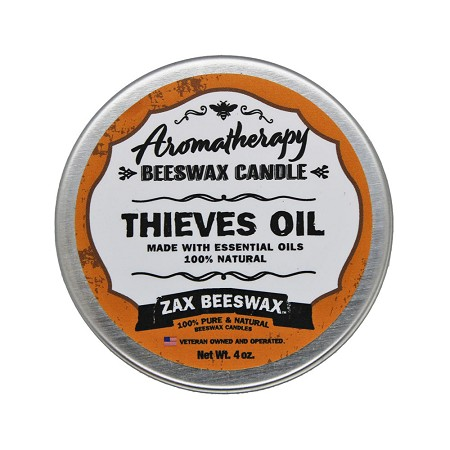 Thieves Oil Aromatherapy Beeswax Travel Tin Candle