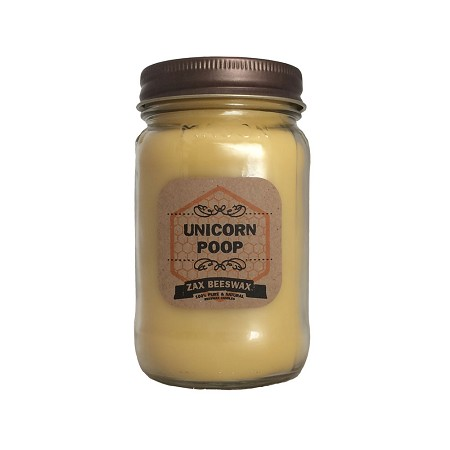 Unicorn Poop Scented Beeswax Mason Jar Candle | 16 oz